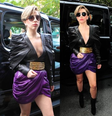 lady gaga black purple yellow