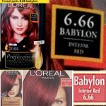 loreal 666 babylon red
