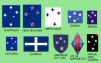 CRUX Southern cross appearing on a number of flags