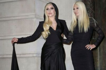 Lady Gaga and Donatella Versace