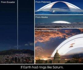 if earth had rings like saturn