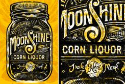 moonshine liquor black yellow